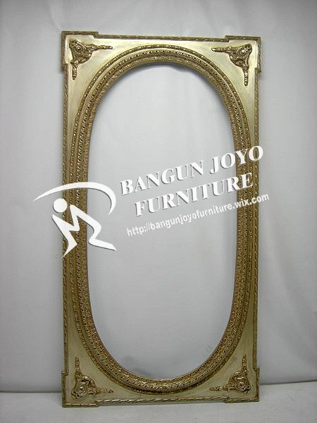 Antique gold rectangle wooden framed mirror, decoration mirror ...