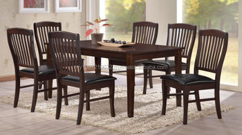Wooden Furniture Dining Set Wooden Table Wooden Chair Cushion Seat