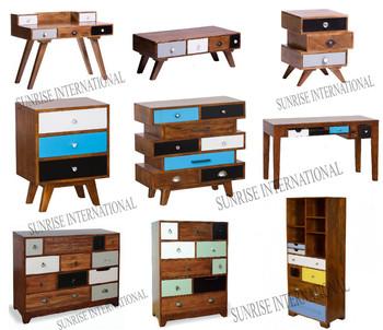 Amazing Retro Style Furniture Cabinet In Mango Wood, Vintage Range Furniture