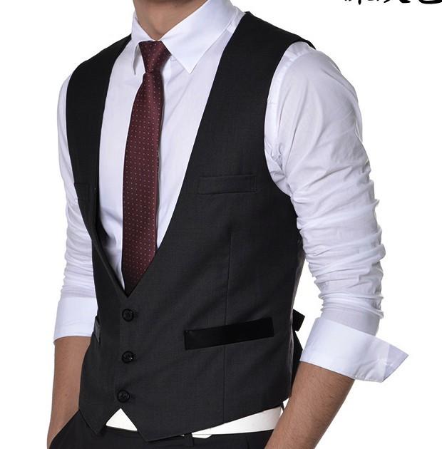 2017 New Men Vest Casual Suit Vest Waistcoat Tank Tops ...