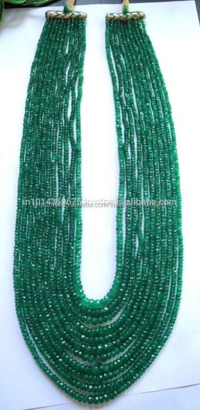 collier perle emeraude