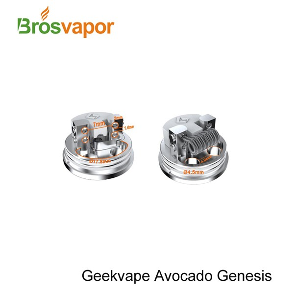 GeekVape Avocado Genesis RTA Tank 3.0ml with Velocity Style Dual Post Deck 100% Original