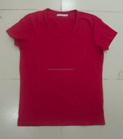 ladies blank t-shirt, 100% cotton cheap price wholesale blank t-shirt made in bangladesh