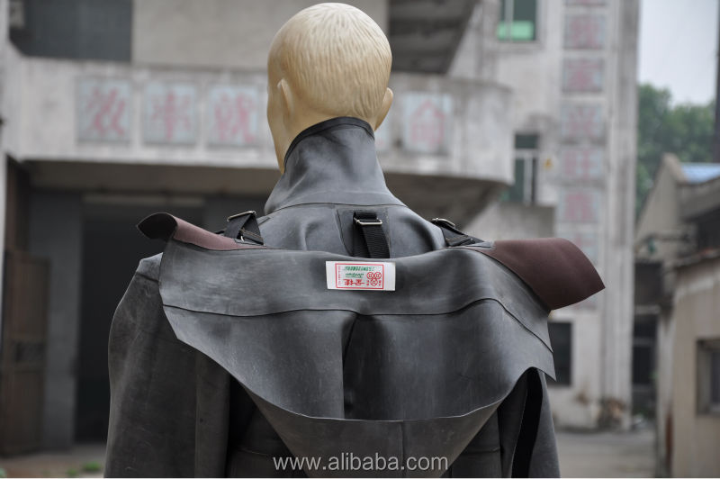 Jinqian New Full Nature Rubber Long Raincoat With Seperate