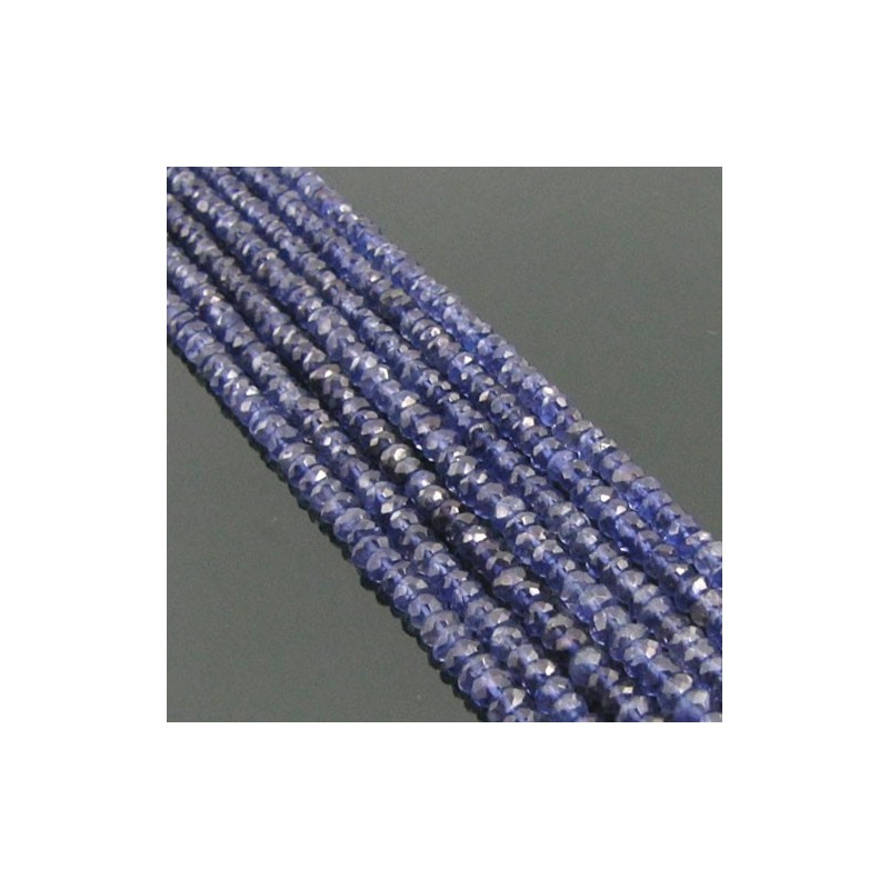 Iolite 4-4.5mm Faceted Beads Strand