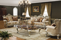 Set Furniture Wood Living Room Sofa