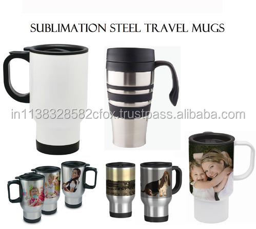 Promotional Logo Steel Travel Mug for Sublimation Printing