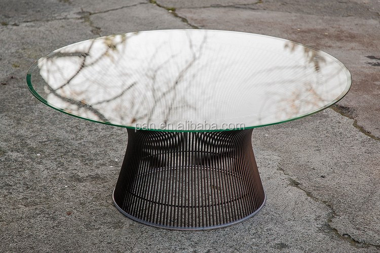 MITTE DES JAHRHUNDERTS MODERNE PLATNER SPRACH DRAHT GLAS COUCHTISCH