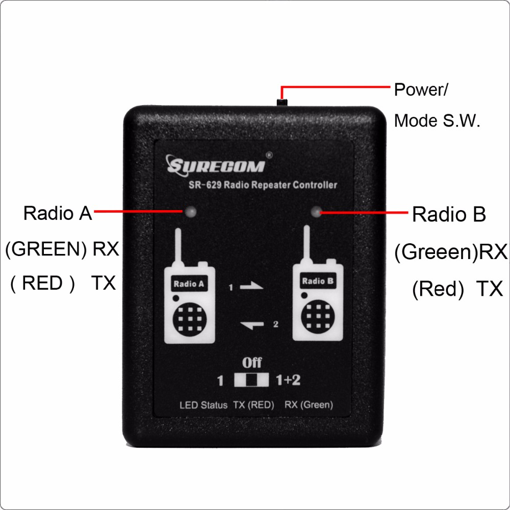 Surecom SR-629 two way radio Duplex Repeater Controller for UV-5R