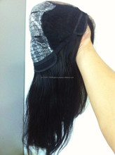 Hot item straight Human Hair Full Lace Wigs natural hairline virgin hair 50% handmade cheap price 200g/lot 18""