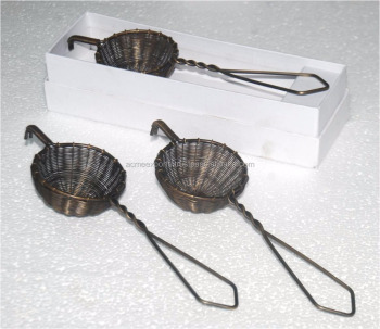 Antique Brass Tea Strainer | Wholesale tea strainers