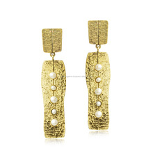 New Model Gold Plated Pearl Earrings 925 sterling silver jewelry India