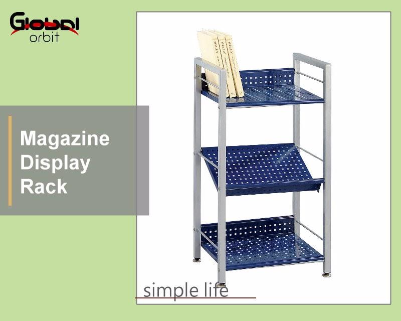 3 Tier Book Rack,Colorful Brochure Display Rack,Adjustable Storage ...