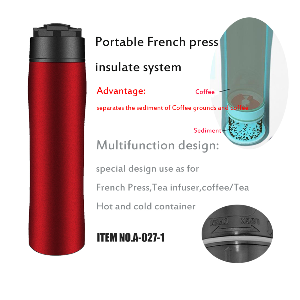 12oz portable french press coffee maker espresso coffee for Ptable french