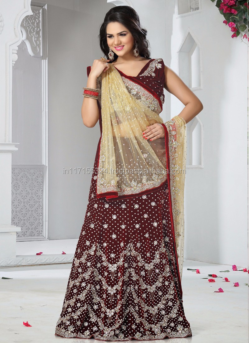 Lacha Saree Price Designer Heavy Bridal Sarees Wedding Reception Lehenga Saree Latest Marwadi Saree 4wert Buy Lacha Saree Price 18288 Indian