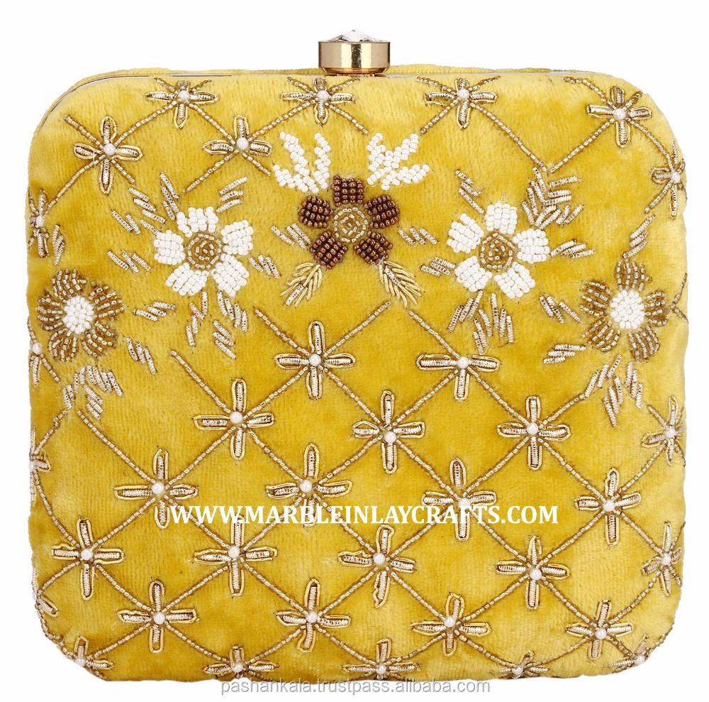 Corporate gift borduren vrouwen fancy party clutch purse