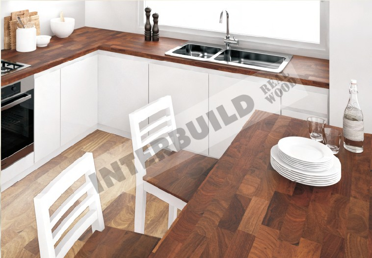 wholesale Walnut Finger Joint Laminated board/ panel/ worktop/ Countertop/ wood panel