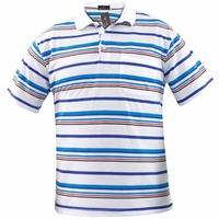 Yarn Dyed Stripes Polo Tshirt Mens