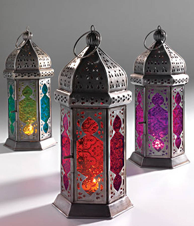 Moroccan table lamp lantern