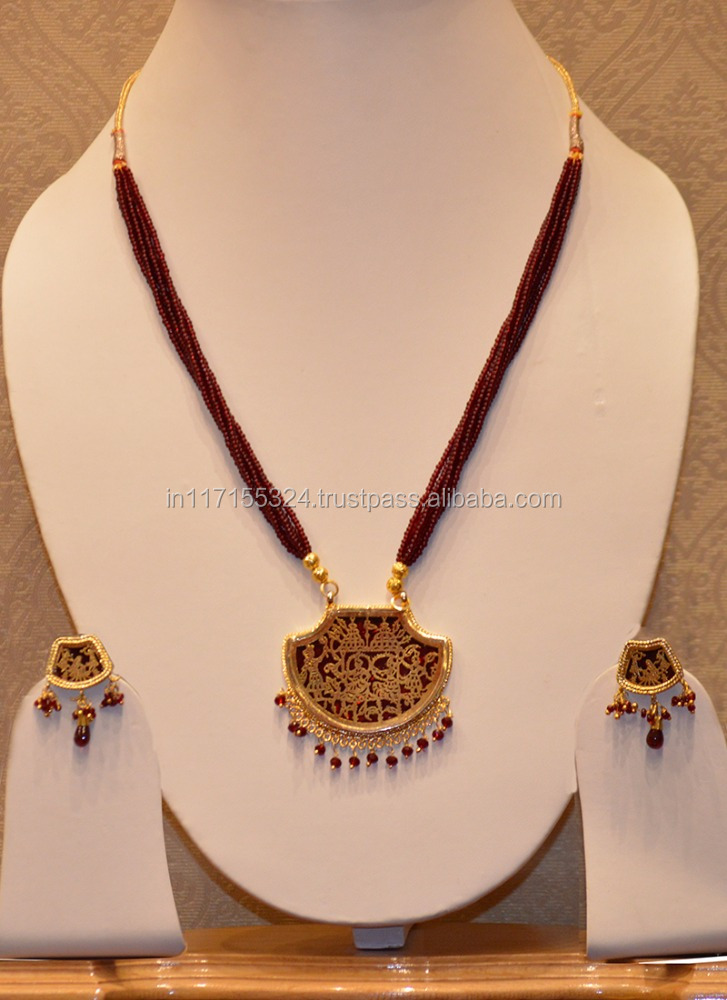 Designer temple jewellery maroon necklace set with earrings buy designer temple jewellery maroon necklace set with earrings buy indian temple jewellery sets 40678fancy necklace sets 40678traditional necklace set mozeypictures Choice Image