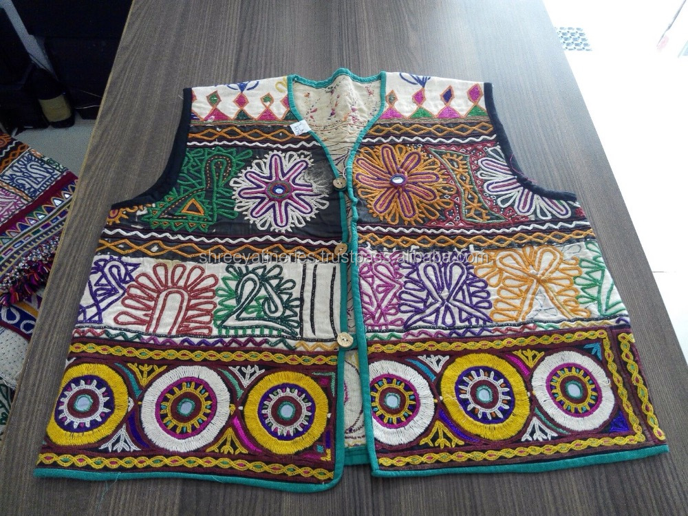 Hand Embroidered Vintage Fabric Ethnic Colourful Banjara Gypsy ...