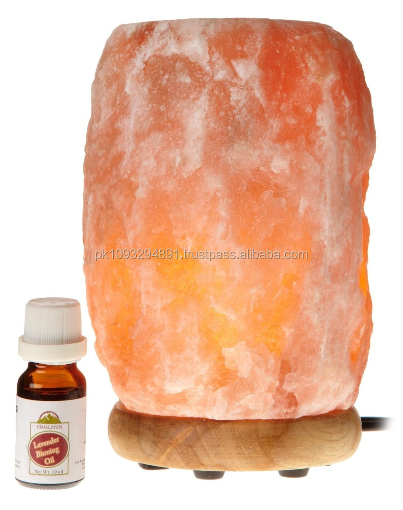 Aroma Therapy & Natural Air Purifier/himalayan Salt Lamp With Neem Wood  Base,Bulb,Lavender Oil And Dimmer Switch - Buy Aroma Salt Lamp,Electric  Aroma