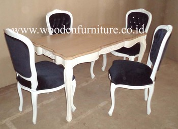 Antique Dining Set French Style Home Furniture Painted Dining Table And  Dining Chair European Style Home
