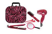 TI CREATIVE Quality Vanity Case Pink Zebra