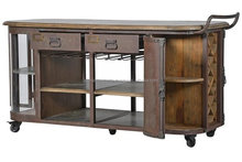 Industrial vintage Metal Wine Cabinet With Wheel Kitchen Cabinet