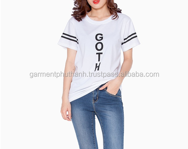Customize printing of women's t- shirt, printing t shirt for young lady, unisex size