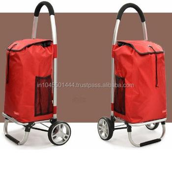 In India Adjustable Handle Folding Shopping