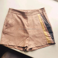 TRUE VINTAGE SOFT LEATHER/ SUEDE LEDERHOSEN SHORTS GREENISH FC-14204