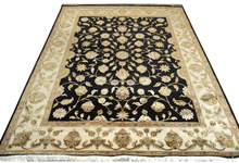 8x10 fine wool silk traditional indian hand knotted rug