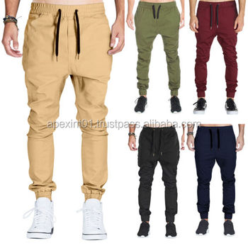 Chino Joggingbroek Heren.Heren Drop Kruis Joggers Joggingbroek Chino Khakis Jogging Sport