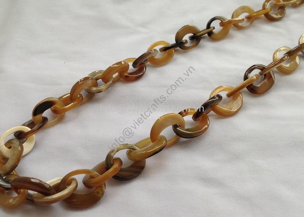 Buffalo Horn Necklace,Buffalo Horn Chain,Horn Link Chain Necklace ...