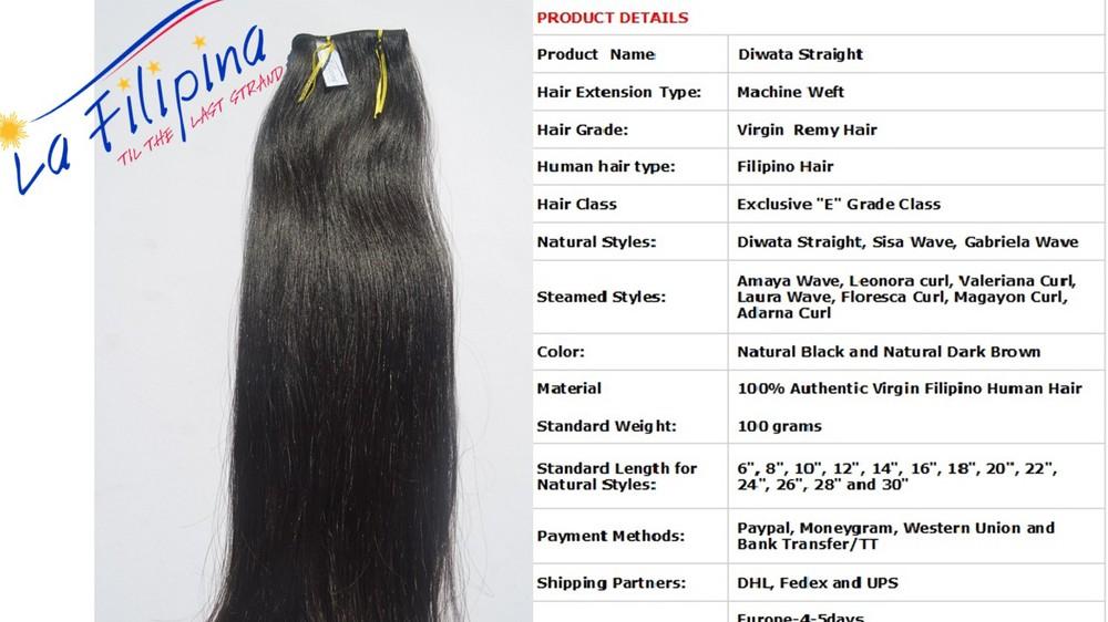 Quality Filipino Hair Valeriana Curl100 Filipino Human Hair