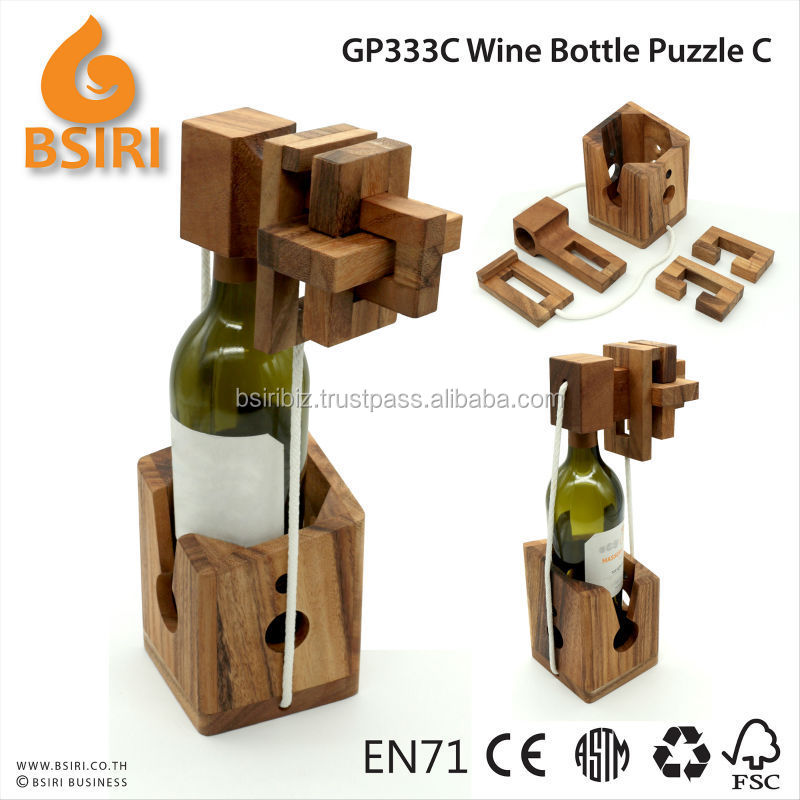wooden bottle puzzle instructions