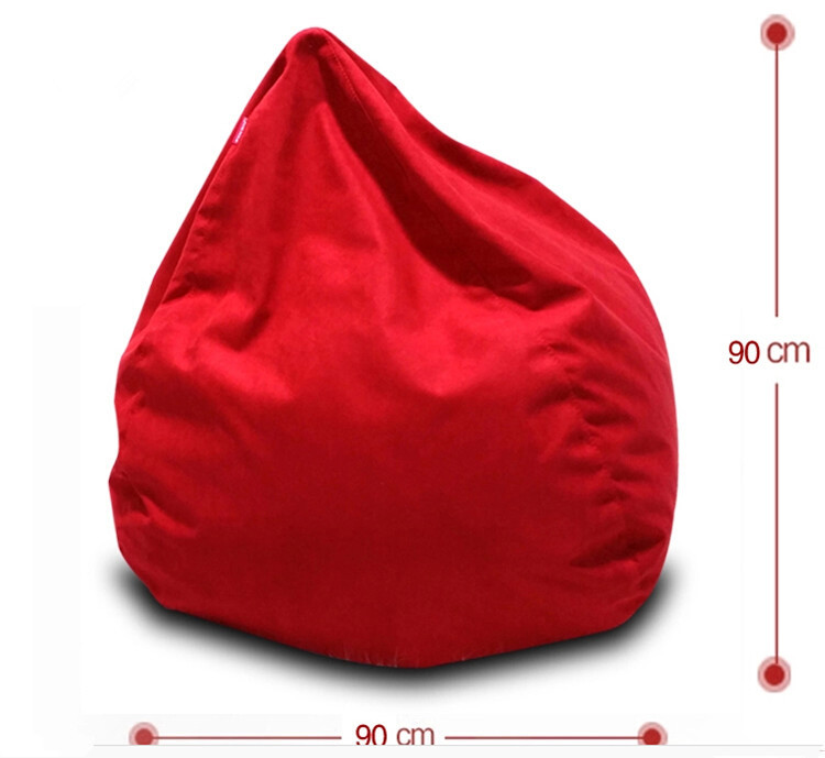 Large Oversize Tear Drop Shape Bean Bag Sofa Skin Cover