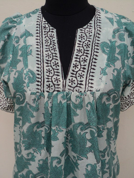 ddabf31440784 Casual umbrella sleeves cotton designer design beautiful women short blouses    indian woman wearing blouse