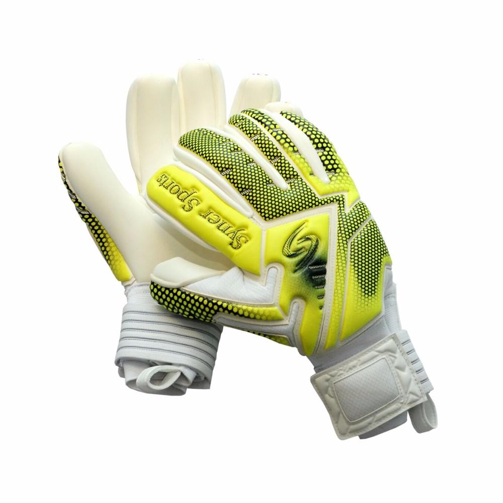 Professional Soccer indoor match Goalie Giga grip Negative cut Finger  protection Goalkeeper Gloves 63d1406c8467
