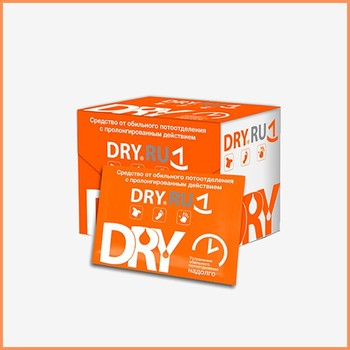 DRY RU Wet Wipes - personal care product for single use