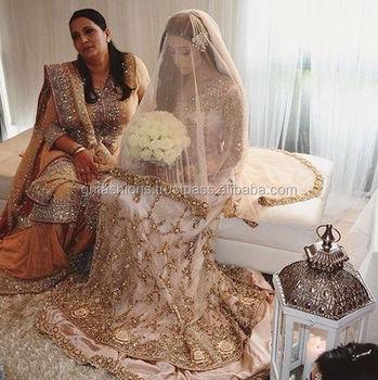 a7c47c3ae7 Zardosi Work Pakistani Designer Bridal Wedding Lehenga Suit 2016 ...
