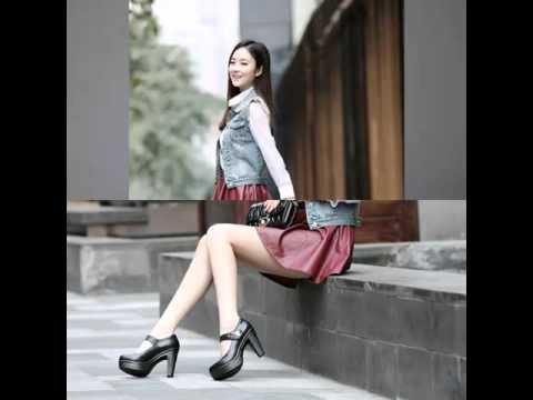 The new shoes waterproof leather high heels shallow mouth to help low shoes fashion shoes