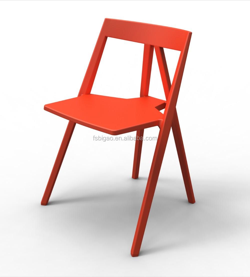 Rosso Di Plastica Sedia Mobili Di Design Moderno Per Sala Riunioni ...