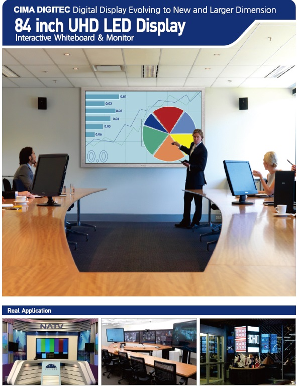 Cima's 84 Inch Uhd Led Interactive Whiteboard - Cl-84wrf10_20 ...