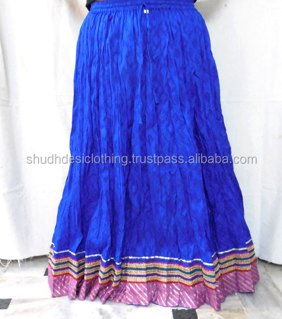Indian Designer Cotton Long Skirt Girl's Wear - Buy Indian ...