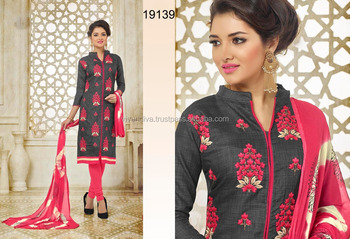 Ethnic Casual Wear Indian Ladies Salwar Kameez Suit Design