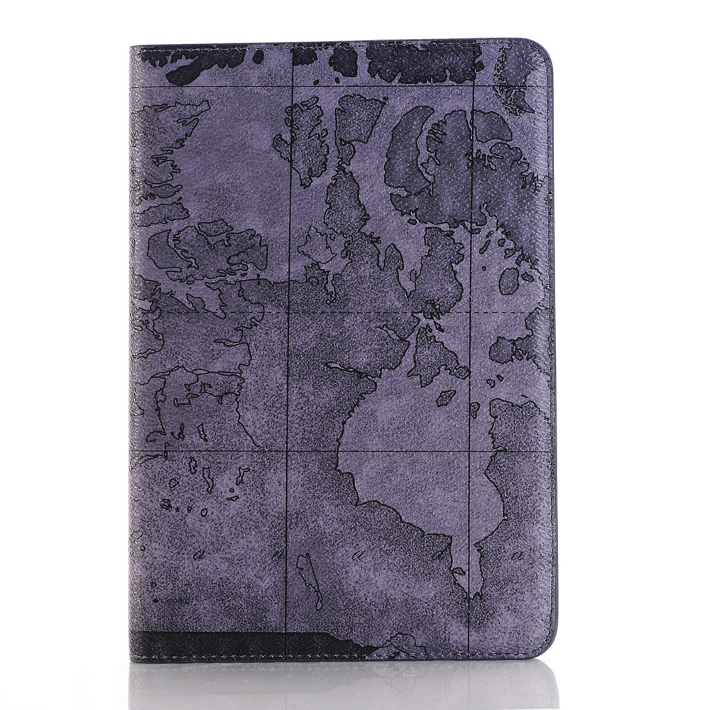 IMPRUE Map Pattern leather stand flip case for apple ipad pro tablet wallet stand protective shell case