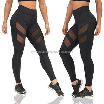 f4bca24cae43 Women Waist Yoga Fitness Leggings Running Gym Stretch Sports Pants Trousers  with mesh air fashion