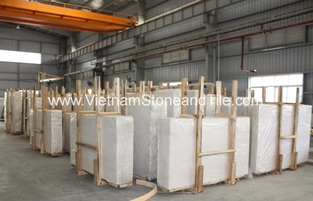 Vietnam Snow White Marble Slabs